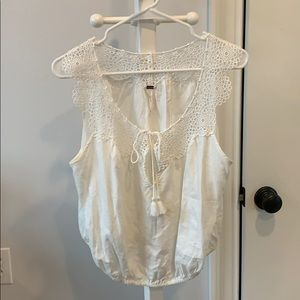 Free people crochet detail blouse size m